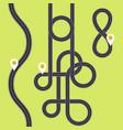 road interweaving loops - highway interchange vector image vector image