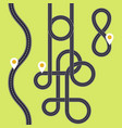 road interweaving of loops - highway interchange vector image vector image