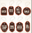 sale labels set 2 vector image