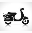 scooter icon on white background vector image vector image