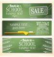 Set of school banners with sample text place for vector image vector image
