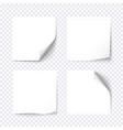 set white sticky on transparent background vector image