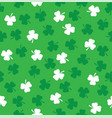 shamrock seamless vector image vector image