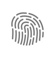 simple fingerprint id app line icon symbol and vector image