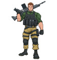 soldier standing tall vector image vector image