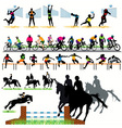 sports silhouettes vector image vector image