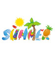 summer inscription vector image vector image