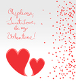 Sweet plea of valentine vector image