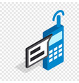 talking on radio isometric icon vector image vector image