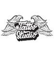 tattoo studio handwritten trendy lettering vector image vector image