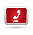 Telephone receiver icon vector image