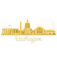 washington dc usa city skyline golden silhouette vector image vector image