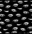 White female eyes seamless pattern