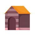 wooden house for dog pets vector image vector image