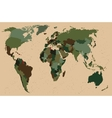 World map - Forest green camouflage pattern vector image vector image