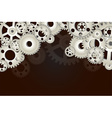 Gear wheels background vector image