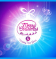 merry christmas holidays and happy new year vector image