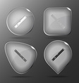 Spirit level Glass buttons vector image