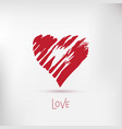 Handdrawn painted heart element for your vector image