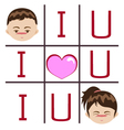 I love you boy and girl vector image