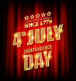 4th july american independence day badge vector image vector image