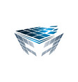 abstract box cube logo icon template apps and vector image
