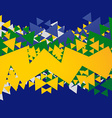 abstract brasil background vector image vector image