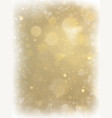 abstract christmas gold background with white vector image vector image