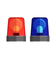 Ambulance Lights Isolated Flashing Warning Sirens vector image vector image