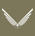 army logo military symbol or emblem eagle wing vector image