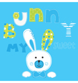 Background with bunny boy vector image vector image