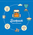 backpack infographic design with icons vector image vector image