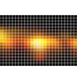 black orange yellow square mosaic background over vector image vector image