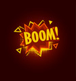 boom speach balloon explosive sale baner vector image