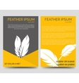 Brochure flyers template with feathers vector image vector image