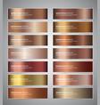 bronze gradient banners vector image vector image