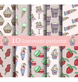 cake seamless patterns set vector image