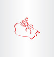 canada map stylized icon vector image