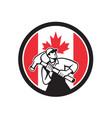 canadian handyman canada flag icon vector image vector image