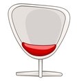 cartoon home furniture chair vector image vector image