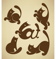 cats symbols vector image