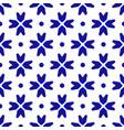 ceramic thai pattern indigo vector image vector image