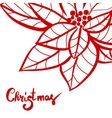 Christmas lettering calligraphy on greeting card vector image vector image