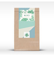 cocoa chocolate craft paper bag product label vector image