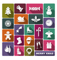 collection of symbols of new year and christmas vector image vector image
