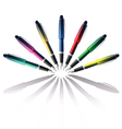 color pen vector image