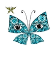 Colorful butterfly with eyes for your design vector image