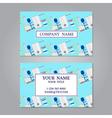 Creative horizontal business card name card vector image