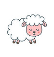 cute smilng funny sleeping sweet sheep vector image vector image