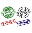 damaged textured typhus stamp seals vector image vector image
